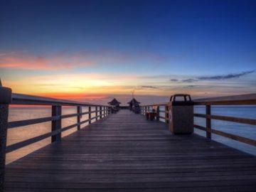 A pier at Naples, Florida