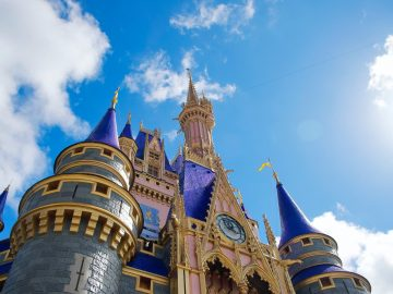 An ants eye view of the Cinderella Castle at Orlando's Disney World