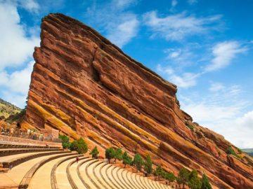 The Red Rocks Amphitheatre in Denver