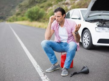 Man on-call after a car breakdown.