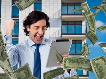 A person making profits through online betting