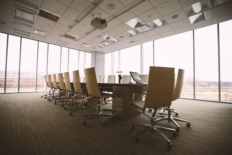 Metallic epoxy flooring installation in an office in Illinois.