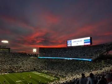 a crowded stadium