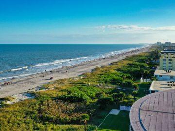 An aerial view of Cocoa Beach.