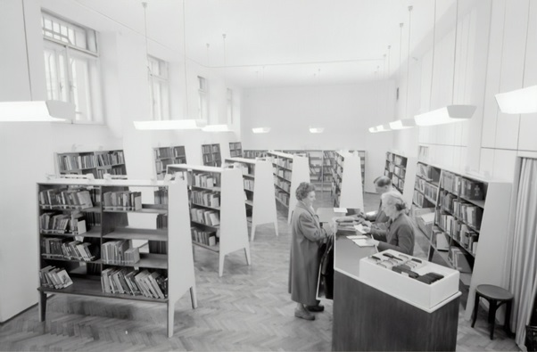 An old picture of a library
