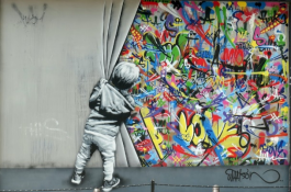 A beautifully done street art piece