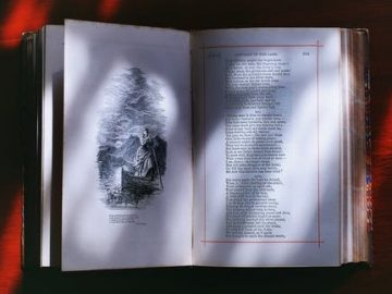 an opened book