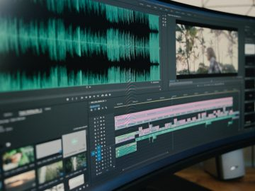 A video editing in progress